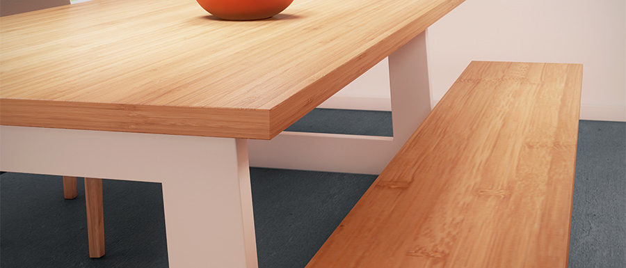 blanke lak voor meubels toegepast op een tafel